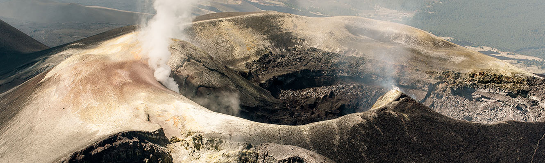 Crateri Etna elicottero